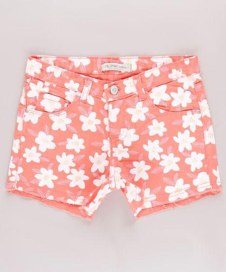 Short-de-Sarja-Infantil-Estampado-Floral-Barra-Desfiada-Coral-9746449-Coral_1