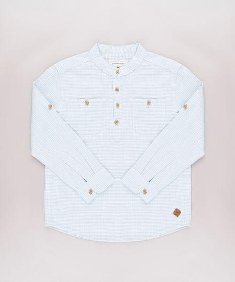 Camisa-Infantil-Listrada-com-Bolsos-Manga-Longa-Azul-Claro-9671165-Azul_Claro_1