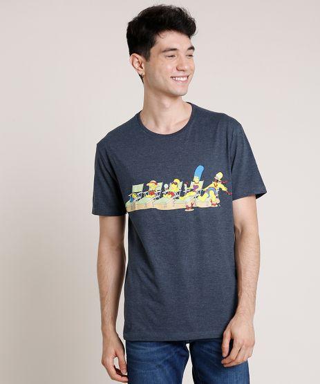 Camiseta-Masculina-Os-Simpsons-na-Praia-Manga-Curta-Gola-Careca-Azul-Marinho-9727702-Azul_Marinho_1