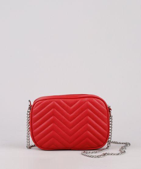 Bolsa-Feminina-Transversal-Pequena-Matelasse-com-Corrente-Vermelha-9632389-Vermelho_1