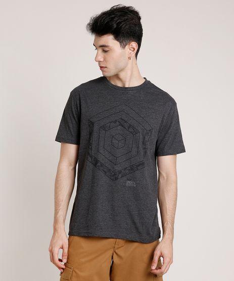 Camiseta-Masculina-com-Estampa-Geometrica-Manga-Curta-Gola-Careca-Cinza-Mescla-Escuro-9676425-Cinza_Mescla_Escuro_1