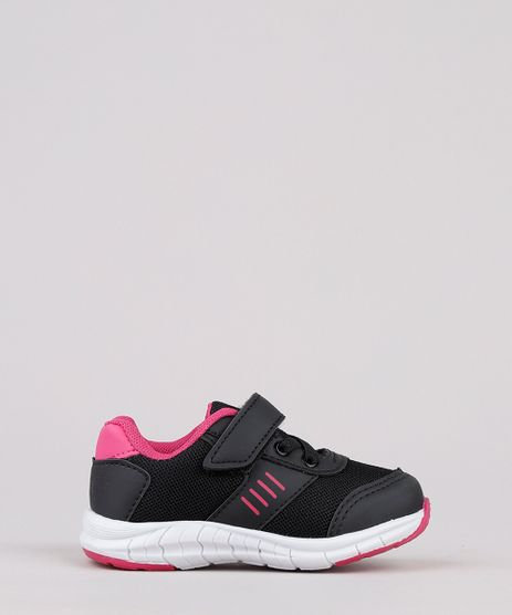 Tenis-Infantil-Running-com-Recortes-e-Velcro-Preto-9828817-Preto_1