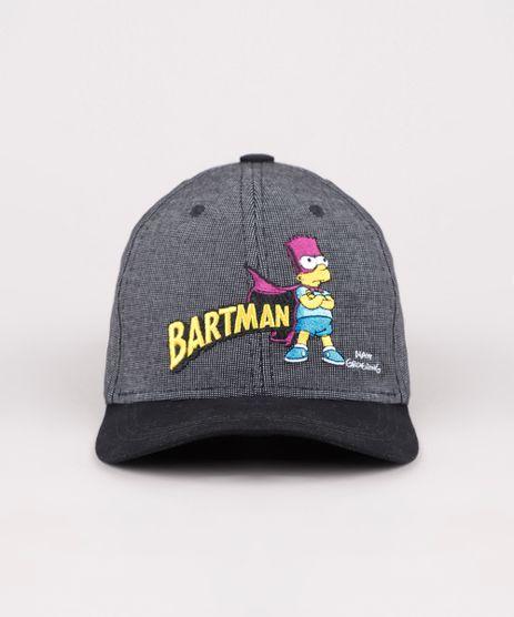 Bone-Masculino-Aba-Curva-Bartman-Os-Simpsons-Bordado-Cinza-Mescla-Escuro-9769582-Cinza_Mescla_Escuro_1