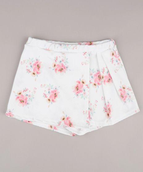 Short-Saia-Infantil-Estampado-Floral-com-Transpasse-Branco-9748613-Branco_1