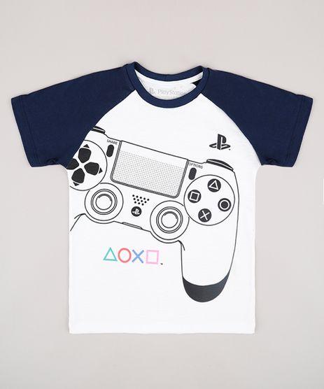 Camiseta-Infantil-Playstation-Raglan-Manga-Curta-Off-White-9732795-Off_White_1