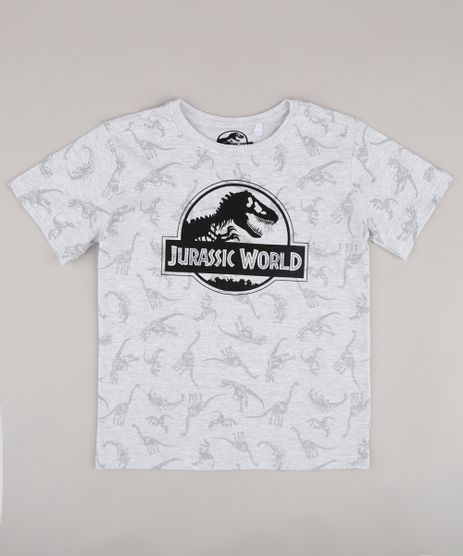 Camiseta-Infantil-Jurassic-World-Estampada-Manga-Curta-Cinza-Mescla-Claro-9818721-Cinza_Mescla_Claro_1