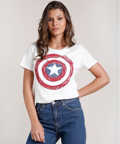 Blusa-Feminina-Capitao-America-Manga-Curta-Decote-Redondo-Off-White-9705929-Off_White_1