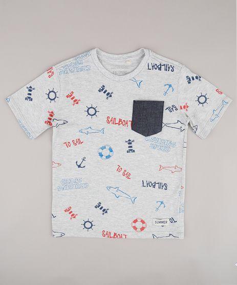 Camiseta-Infantil-Estampada-Maritima-com-Bolso-Manga-Curta-Cinza-Mescla-Claro-9732782-Cinza_Mescla_Claro_1