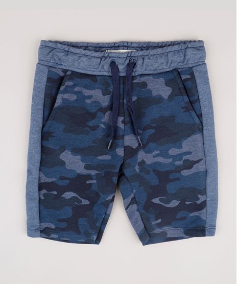Bermuda-Infantil-Estampada-Camuflada-em-Moletom-com-Cordao-e-Bolsos-Azul-9779586-Azul_1