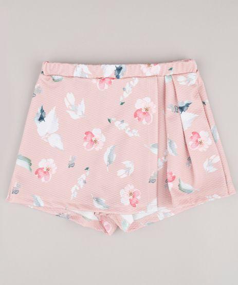 Short-Saia-Infantil-Estampado-Floral-com-Transpasse-Rose-9748614-Rose_1