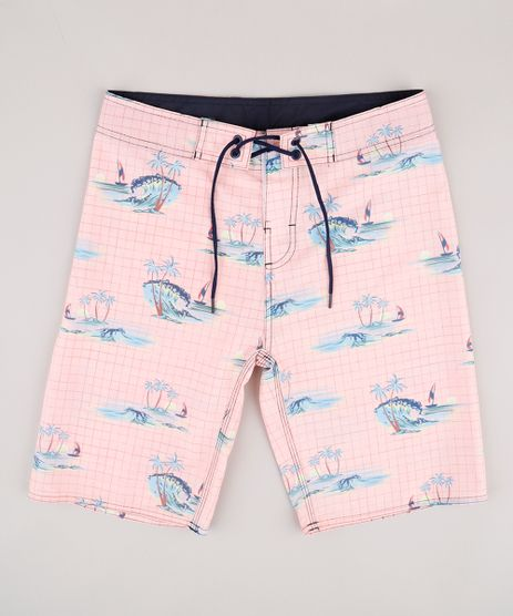 Bermuda-Surf-Infantil-Estampada-Tropical-Rose-9765354-Rose_1