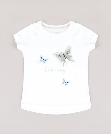 Blusa-Infantil-com-Estampa-Interativa-de-Borboleta-Manga-Curta-Off-White-9765855-Off_White_1