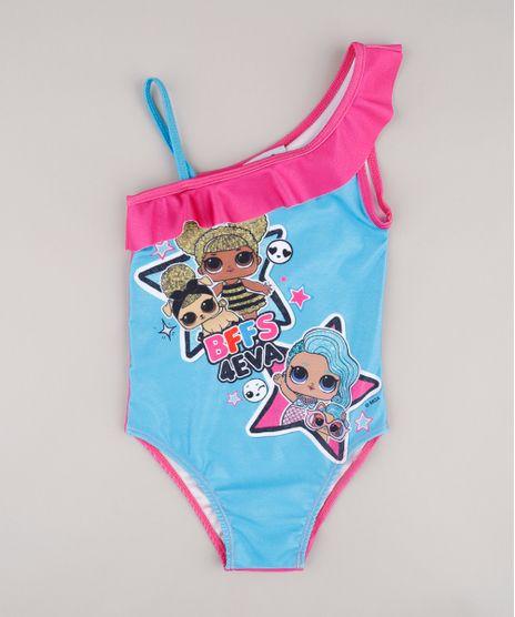 Maio-Infantil-LOL-Surprise-Um-Ombro-So-com-Babado-Protecao-UV-50--Azul-9740768-Azul_1