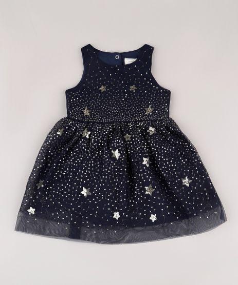 Vestido-Infantil-em-Tule-com-Paete-Sem-Manga-Azul-Marinho-9675659-Azul_Marinho_1