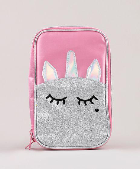Estojo-Escolar-Infantil-Unicornio-Holografico-Brilhante-Rosa-9594292-Rosa_1
