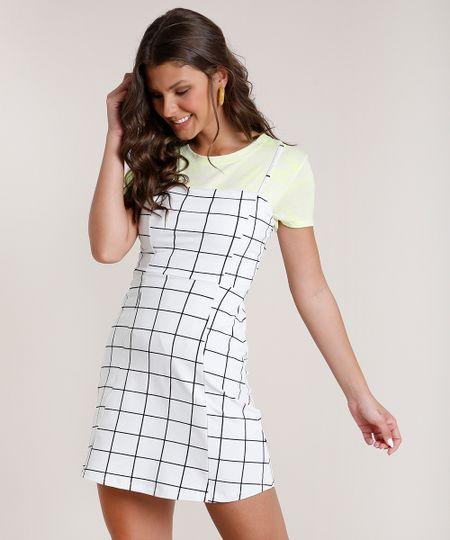 Vestido-Feminino-Curto-Estampado-Quadriculado-Alcas-Finas-Decote-Reto-Branco-9706293-Branco_1