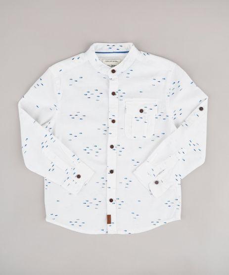 Camisa-Infantil-Estampada-de-Peixe-com-Bolso-Manga-Longa-Gola-Padre-Off-White-9671163-Off_White_1