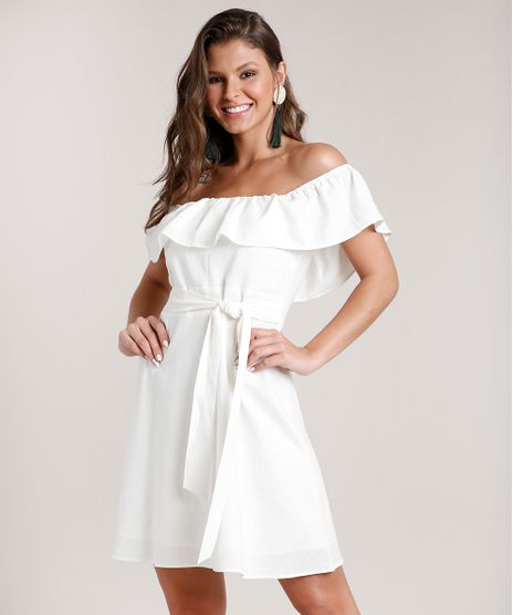 Vestido-Feminino-Curto-Ciganinha-com-Linho-e-Faixa-para-Amarrar-Off-White-9674184-Off_White_1