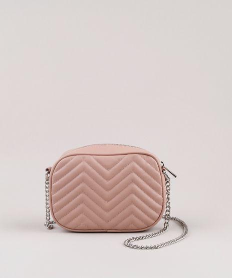 Bolsa-Feminina-Transversal-Pequena-em-Matelasse-Alca-com-Corrente-Rose-9632388-Rose_1