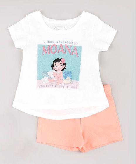 Conjunto-Infantil-Moana-de-Blusa-Manga-Curta---Short-em-Moletom-Coral-9804488-Coral_1