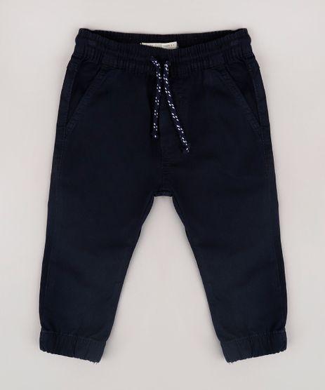 Calca-de-Sarja-Infantil-Jogger-com-Bolsos--Azul-Marinho-9632470-Azul_Marinho_1