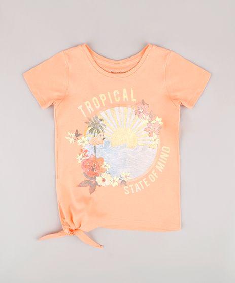Blusa-Infantil-com-Estampa-Tropical-e-Amarracao-Lateral-Manga-Curta--Coral-9805848-Coral_1