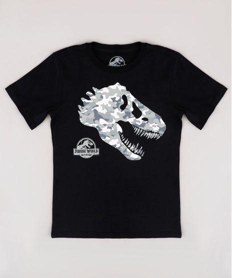 Camiseta-Infantil-Jurassic-World-Manga-Curta--Preta-9840094-Preto_1