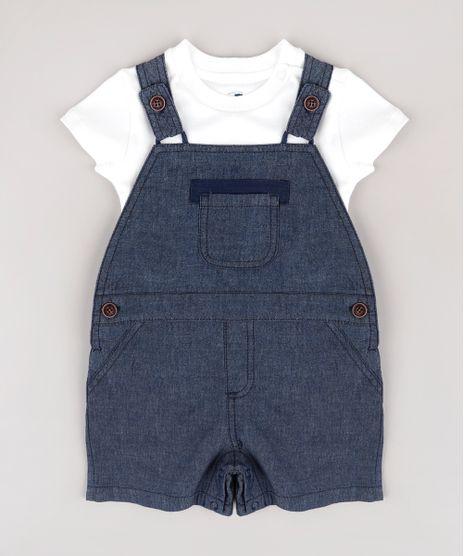 Conjunto-Infantil-de-Jardineira-Jeans-Azul-Escuro---Body-Manga-Curta--Off-White-9681991-Off_White_1
