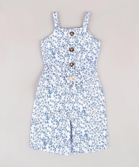 Macacao-Infantil-Pantacourt-Estampado-Floral-com-Botoes-Branco-9753346-Branco_1