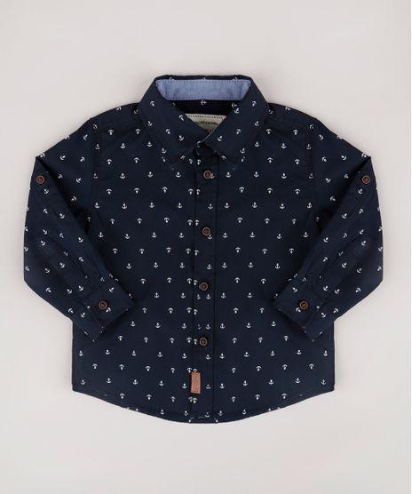 Camisa-Infantil-Estampada-de-Ancora-Manga-Longa-Azul-Marinho-9670880-Azul_Marinho_1