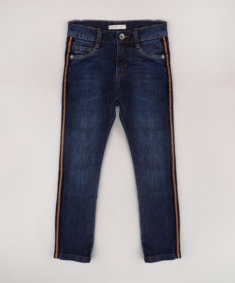 Calca-Jeans-Infantil-Skinny-com-Faixa-Lateral-Azul-Escuro-9767891-Azul_Escuro_1