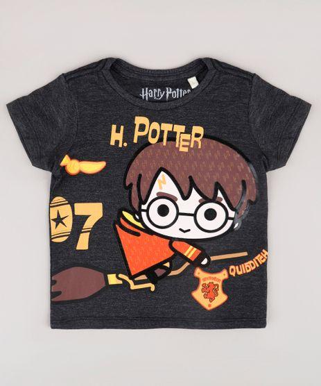 Camiseta-Infantil-Harry-Potter-Manga-Curta--Cinza-Mescla-Escuro-9730459-Cinza_Mescla_Escuro_1