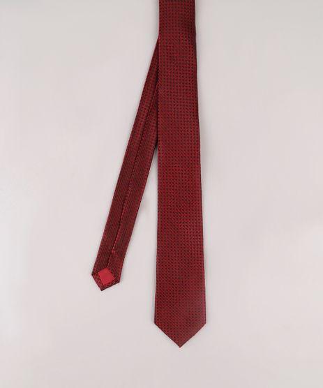 Gravata-Masculina-Acetinada-em-Jacquard--Vermelha-9663757-Vermelho_1