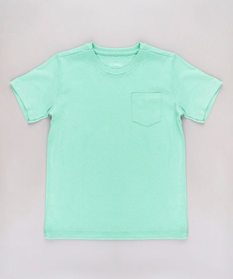 Camiseta-Infantil-Basica-com-Bolso-Manga-Curta-Verde-Claro-9567186-Verde_Claro_1