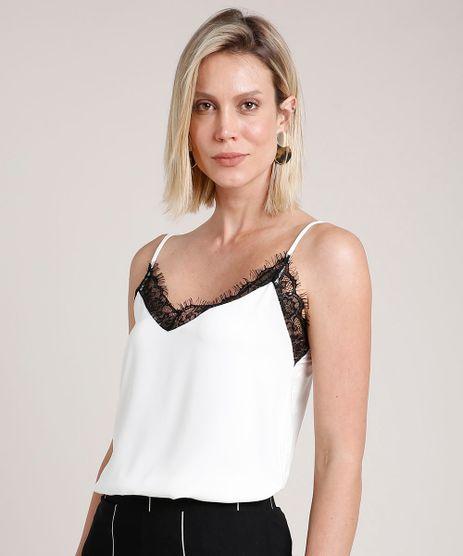 Regata-Slip-Top-Feminina-com-Renda-Alca-Fina-Decote-V-Off-White-9693993-Off_White_1