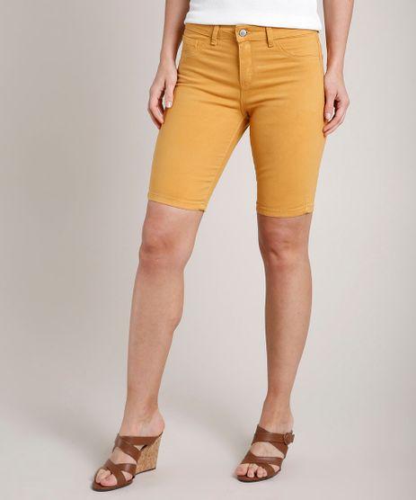 Bermuda-de-Sarja-Feminina-Ciclista--Mostarda-9816105-Mostarda_1