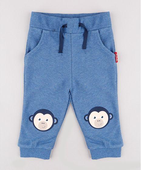 Calca-Infantil-Fisher-Price-Macaco-em-Moletom-Azul-9683675-Azul_1