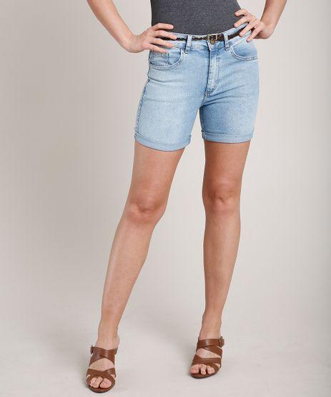 Short-Jeans-Feminino-Midi-Barra-Dobrada-com-Cinto-Azul-Claro-9823283-Azul_Claro_1