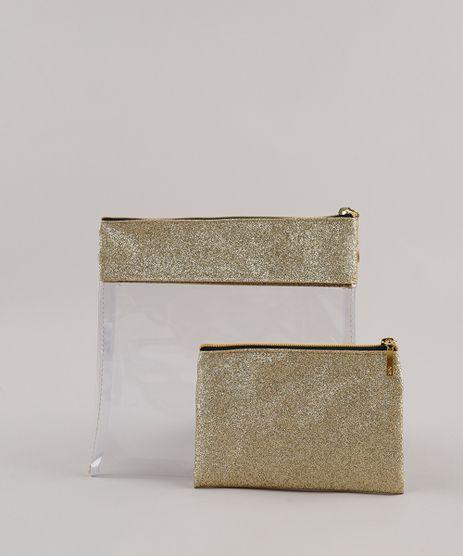 Kit-de-2-Necessaires-Femininas-com-Glitter-e-Transparencia-Dourado-9797250-Dourado_1