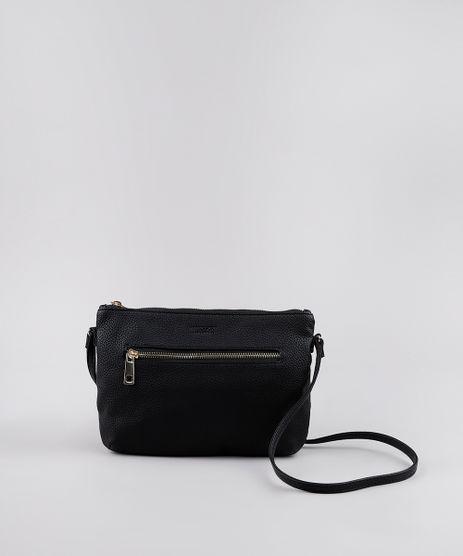 Bolsa-Transversal-Feminina-Pequena-Com-Bolso-e-Ziper-Preta-8505204-Preto_1
