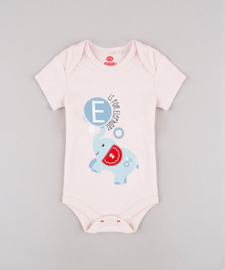 Body-Infantil-Fisher-Price-com-Estampa-Interativa-de-Elefante-Manga-Curta---Babador--Rose-9682816-Rose_1