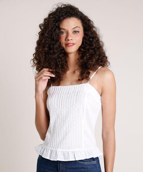 Regata-Feminina-Mindset-com-Babado-Alca-Fina-Decote-Reto-Off-White-9861984-Off_White_1