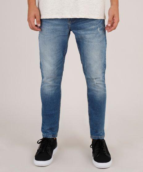 Calca-Jeans-Masculina-Carrot-com-Puidos-Azul-Escuro-9766810-Azul_Escuro_1