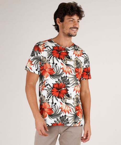 Camiseta-Masculina-Mickey-Estampada-de-Folhagens-Manga-Curta-Gola-Careca-Off-White-9810332-Off_White_1