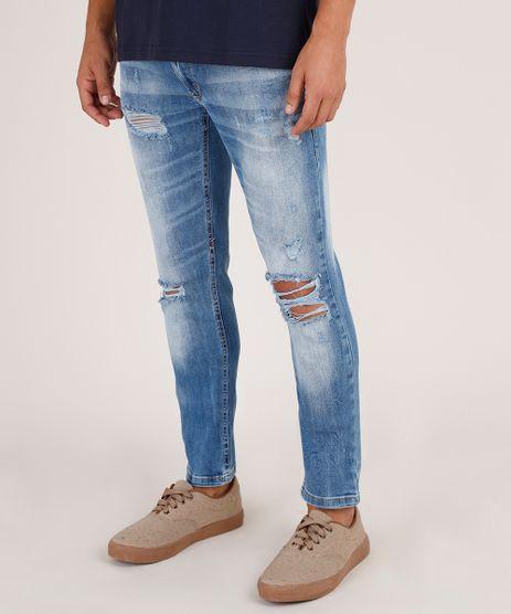 Calca-Jeans-Masculina-Skinny-Destroyed-Azul-Medio-9791499-Azul_Medio_1