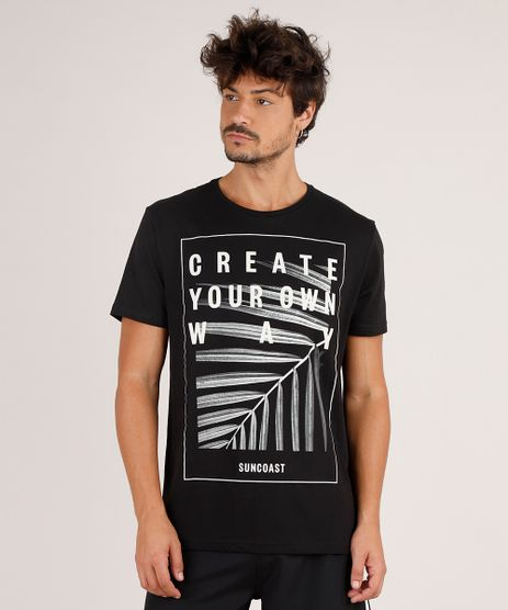 Camiseta-Masculina--Create-Your-Own-Way--Manga-Curta-Gola-Careca-Preta-9738891-Preto_1