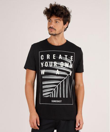 Camiseta-Masculina--Create-Your-Own-Way--Manga-Curta-Gola-Careca-Preta-9738891-Preto_1