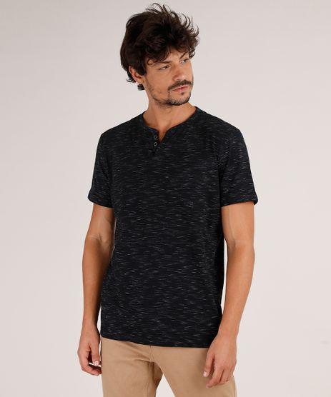 Camiseta-Masculina-Basica-Mescla-Manga-Curta-Gola-Portuguesa-Preta-9750700-Preto_1