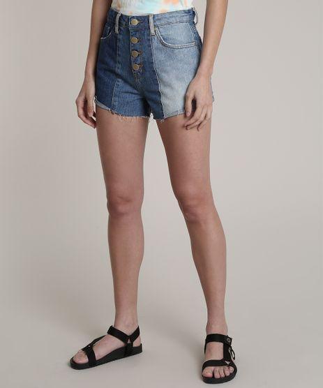 Short-Jeans-Feminino-Blueman-Cintura-Super-Alta-com-Recorte-Azul-Medio-9810524-Azul_Medio_1
