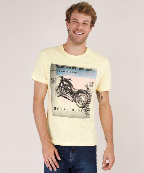 Camiseta-Masculina-Moto--Ride-Fast-or-Die--Manga-Curta-Gola-Careca-Amarela-9771648-Amarelo_1